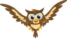 Cute owl cartoon flying Royalty Free Stock Photography
