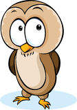 Cute owl cartoon - vector illustration isolated Royalty Free Stock Photos