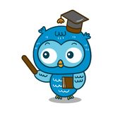 Illustrator of owl cartoon Professional vector illustration