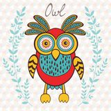 Cute owl character Royalty Free Stock Photo