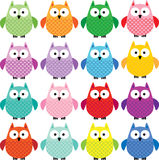 Cute owl clipart Royalty Free Stock Photo