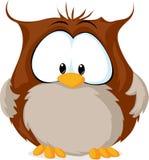 Cute owl illustration isolated on white background Royalty Free Stock Images