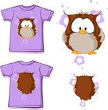 Cute owl illustration isolated on white background Stock Photos