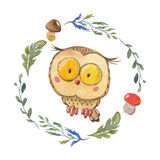 Cute owl Owlet for kindergarten, nursery, children clothing, baby pattern Royalty Free Stock Photos