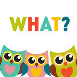 Cute Owl Pattern Background With Place For Your Text Vector Illustration Stock Photos