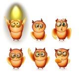 Cute Owl Set Stock Image