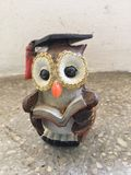Cute Owl statue Royalty Free Stock Photography