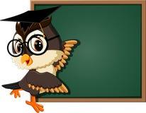 Cute owl teacher Royalty Free Stock Photos