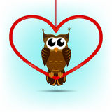 Cute owl Valentine's day card Royalty Free Stock Photos