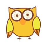 Cute owl. Vector bird. Royalty Free Stock Photo