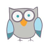 Cute owl. Vector bird. Stock Images