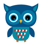 Cute Owl Vector Boy with Heart Stock Image