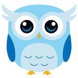Cute Owl Vector Cartoon. High detail vector illustration of cute owl. Additional vector format Eps8, you can very easy edit with separate layers Royalty Free Stock Image