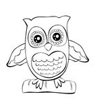 Cute owl vector doodle royalty free stock images