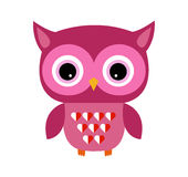 Cute Owl Vector Girl with Heart Royalty Free Stock Images