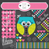 Cute owl vector Royalty Free Stock Image