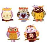 Cute Owls stock illustration