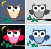 Cute owls Royalty Free Stock Photos