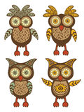 Cute owls collection Stock Images