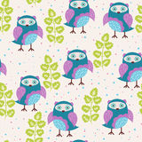 Cute owls Royalty Free Stock Image