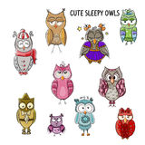 Cute owls Stock Image