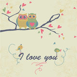 Cute owls Royalty Free Stock Images