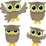 Cute owls vector Royalty Free Stock Photography