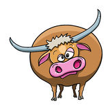 Cute ox cartoon. Illustration of cute ox cartoon Royalty Free Stock Image