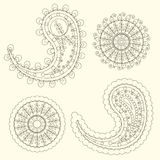 Cute Paisley pattern (Turkish cucumber) for design of fabrics, tableware, wallpaper Royalty Free Stock Photos