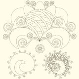 Cute Paisley pattern (Turkish cucumber) for design of fabrics, tableware, wallpaper, , vector Stock Photography