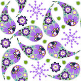 Cute Paisley seamless pattern in lilac colors and seamless patte Stock Photography