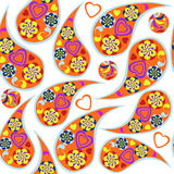 Cute Paisley seamless pattern and seamless pattern in  swatch me Stock Photos