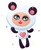 Cute panda Stock Images