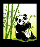 Cute panda. A illustration of panda character with background Stock Images