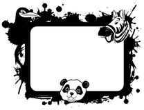 Cute panda. A illustration of animal character with background frame Stock Image