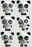 Cute panda. 3 d cartoon cute panda Royalty Free Stock Photos
