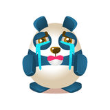 Cute Panda Activity Illustration With Humanized Cartoon Bear Character Crying With Streams Of Tears Stock Photo