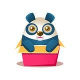 Cute Panda Activity Illustration With Humanized Cartoon Bear Character Hiding In Carton Box Royalty Free Stock Photo