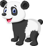 Cute panda bear cartoon Stock Photography