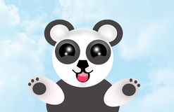 Cute panda bear heaven Stock Image