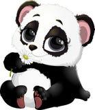 Cute Panda bear illustrations Stock Photography
