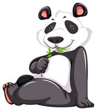 Cute panda bear royalty free illustration