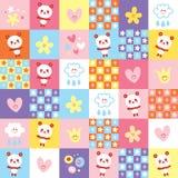Cute panda bears pattern Royalty Free Stock Photos