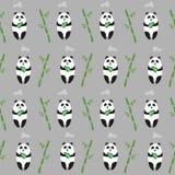 Cute panda bears seamless pattern. Stock Photography
