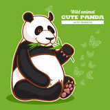 Cute panda and butterflies Royalty Free Stock Photo