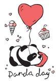 Cute panda card Royalty Free Stock Image