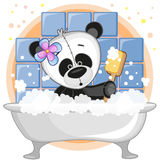 Cute Panda. Cute cartoon Panda in the bathroom Stock Photography