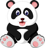 Cute panda cartoon Stock Image