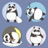 Cute Panda Character with different emotions. Stock Photo