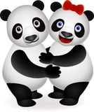 Cute panda couple Stock Image